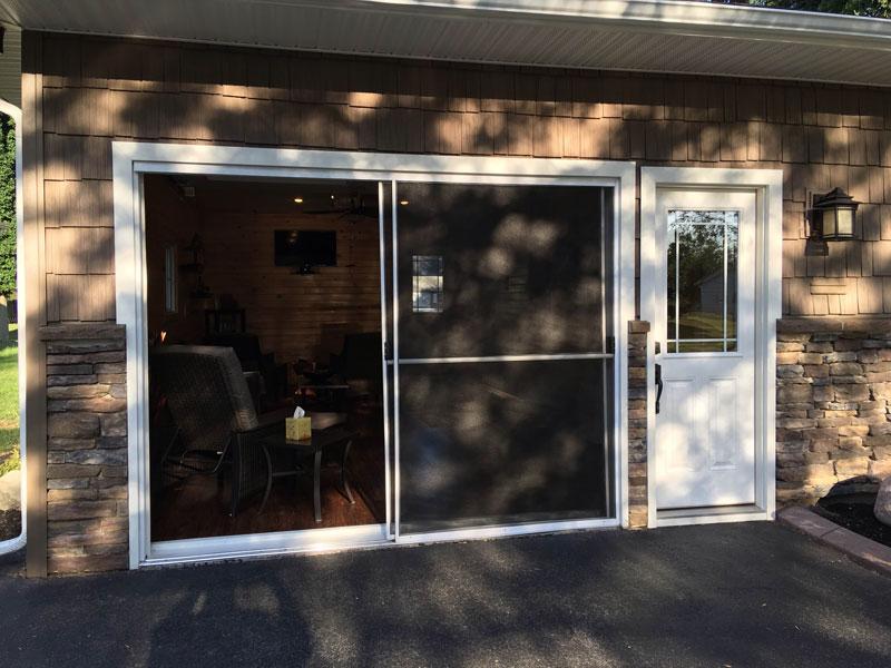 screen garage screens door doors sliding